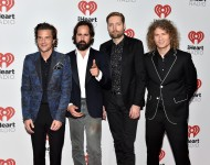 (L-R) Musicians Brandon Flowers, Ronnie Vannucci, Jr., Mark Stoermer and Dave Keuning of The Killers
