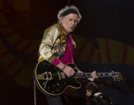 Keith Richards of The Rolling Stones performs