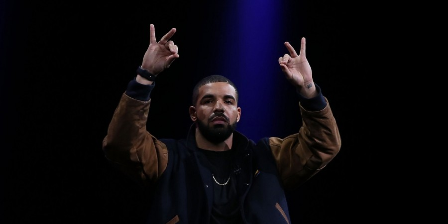 Drake speaks about Apple Music during the Apple WWDC on June 8