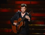 Phillip Phillips performs onstage during Fox's 'American Idol 2012' results show