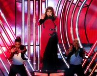 Meghan Trainor performs at 2016 iHeartRadio Music Awards