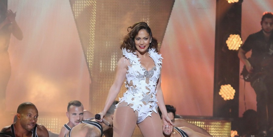 Jennifer Lopez performs onstage at iHeartRadio Fiesta Latina