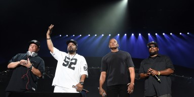 Members of N.W.A. DJ Yella, Ice Cube, Dr. Dre and MC Ren