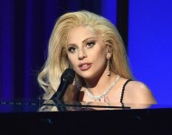 Actress/recording artist Lady Gaga performs onstage at the 27th Annual Producers Guild Of America Awards at the Hyatt Regency Century Plaza