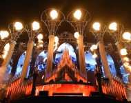 DJs/producers Sebastian Ingrosso and Axwell perform as Axwell /\ Ingrosso on the kineticFIELD stage during the 18th annual Electric Daisy Carnival at Las Vegas Motor Speedway