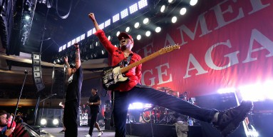 Recording artists Chuck D, B-Real and Tom Morello of Prophets of Rage perform onstage at Hollywood Palladium
