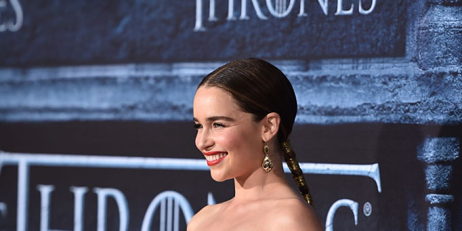 Actress Emilia Clarke attends the premiere of HBO's 'Game Of Thrones' Season 6 at TCL Chinese Theatre on April 10, 2016 in Hollywood, California.