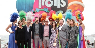 Jeffrey Katzenberg, Justin Timberlake, director Mike Mitchell, Anna Kendrick and director Walt Dohrn attend the 'Trolls' Photocall during The 69th Annual Cannes Film Festival on May 11, 2016