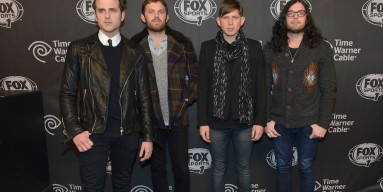 Jared Followill, Caleb Followill, Matthew Followill and Nathan Followill of Kings of Leon on January 30, 2014 in New York City.