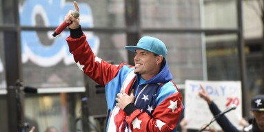 Vanilla Ice performs live on stage for NBC's 'Today' at Rockefeller Plaza on April 29, 2016