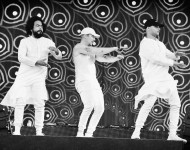 Jillionaire, Diplo and Walshy Fire of Major Lazer performs onstage at the the 2016 Panorama NYC Festival