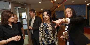 Camila Cabello tours the Childrens Health Fund Center for Child Health & Resiliency on August 29, 2016 in South Bronx, New York City