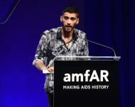 Zayn Malik speaks onstage during the 7th Annual amfAR Inspiration Gala at Skylight at Moynihan Station on June 9, 2016 in New York City