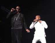 Puff Daddy and Kanye West perform during Puff Daddy and Bad Boy Family Reunion Tour at Madison Square Garden on September 4, 2016 in New York City