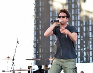 Zack de la Rocha performs with Run the Jewels onstage during day 2 of Coachella 2016