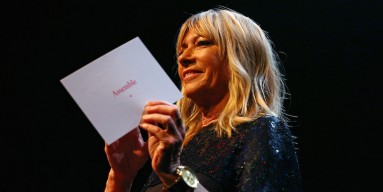 Kim Gordon during the 2015 Turner Prize Awards Ceremony at the Tramway on December 7, 2015 in Glasgow, Scotland