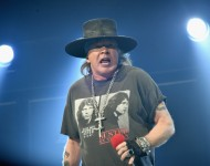 Axl Rose of AC/DC performs during the AC/DC Rock Or Bust Tour at Madison Square Garden on September 14, 2016