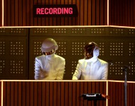 Daft Punk perform onstage during the 56th GRAMMY Awards at Staples Center
