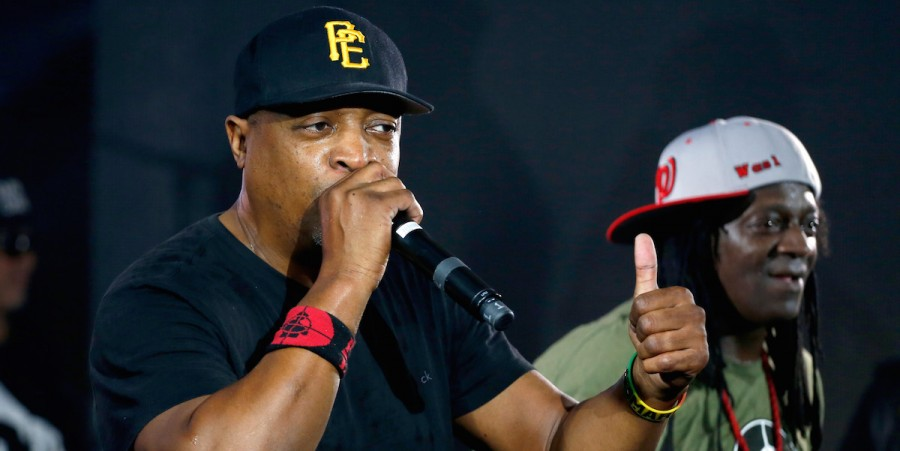 Chuck D (L) and Flavor Flav of Public Enemy perform onstage at Samsung Galaxy Life Fest at SXSW 2016 on March 12, 2016