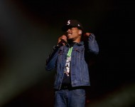 Chance The Rapper performs on stage during the Bad Boy Family Reunion Tour at United Center on September 1, 2016 in Chicago, Illinois
