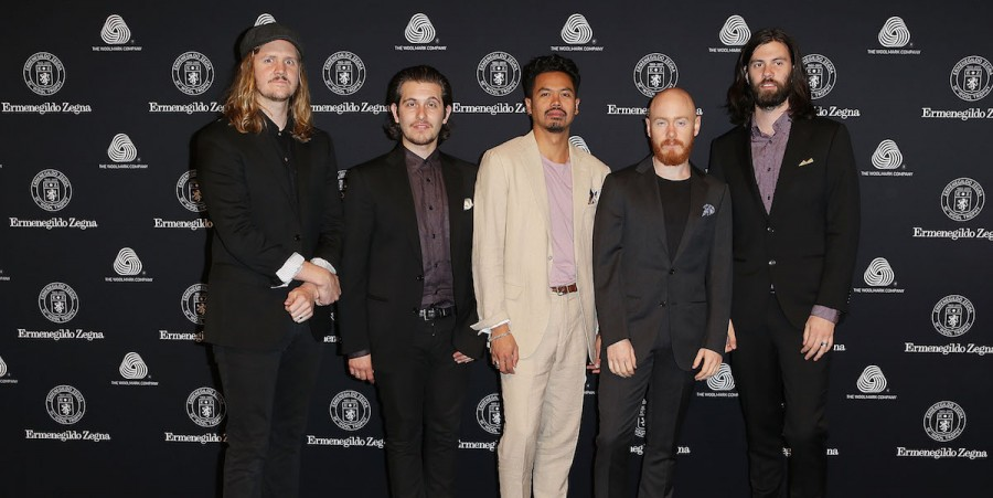 The Temper Trap arrive for the 50th Anniversary Wool Awards at the Royal Hall of Industries, Moore Park on April 23, 2013 in Sydney, Australia