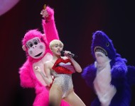 Miley Cyrus and a furry shark?