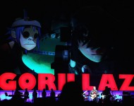Gorillaz perform on stage at the Sydney Entertainment Centre on December 16, 2010