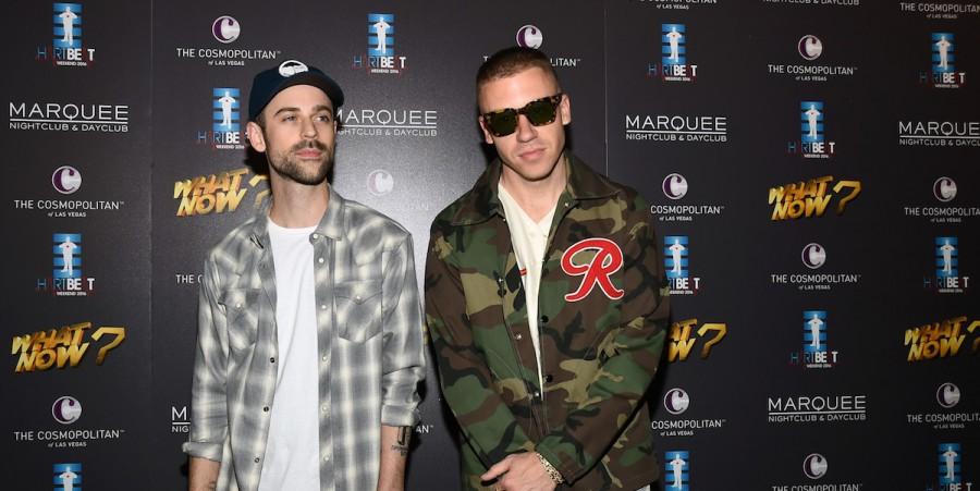 Ryan Lewis (L) and Macklemore at The Cosmopolitan of Las Vegas on September 4, 2016 in Las Vegas, Nevada