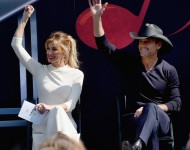 Faith Hill And Tim McGraw during the Nashville Music City Walk Of Fame Induction Ceremony at Nashville Music City Walk of Fame on October 5, 2016