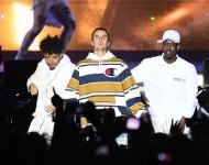 Justin Bieber perform at V Festival at Hylands Park on August 20, 2016