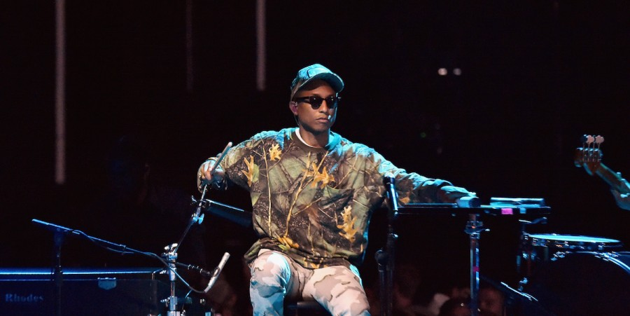 Pharrell Williams performs onstage during the 2016 CMT Music awards at the Bridgestone Arena on June 8, 2016 in Nashville, Tennessee