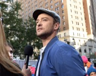 Justin Timberlake at Macy's Herald Square on October 6, 2016