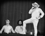 Jillionaire, Diplo and Walshy Fire of Major Lazer performs onstage at the the 2016 Panorama NYC Festival at Randall's Island on July 22, 2016 in New York City