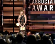 Taylor Swift speaks onstage at the 50th annual CMA Awards at the Bridgestone Arena on November 2, 2016 in Nashville, Tennessee