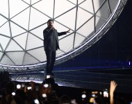 The Weeknd performs on stage during the MTV Europe Music Awards 2016 on November 6, 2016 in Rotterdam, Netherlands