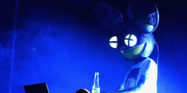 Deadmau5 performs onstage at Firefly Music Festival on June 18, 2016 in Dover, Delaware