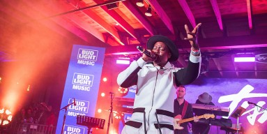 Tish Hyman takes the stage with The Roots at the Bud Light Factory during the Bud Light Music Showcase on March 19, 2016 in Austin, Texas