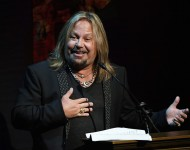 Vince Neil speaks at the Luxor Hotel and Casino on September 12, 2016 in Las Vegas, Nevada.