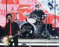 Green Day perform onstage during the 2016 American Music Awards at Microsoft Theater on November 20, 2016 in Los Angeles, California