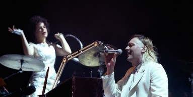 Regine Chassagne and Win Butler of Arcade Fire performs onstage at the 2016 Panorama NYC Festival - Day 1 at Randall's Island on July 22, 2016 in New York City