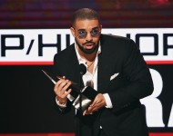 Drake onstage during the 2016 American Music Awards at Microsoft Theater on November 20, 2016 in Los Angeles, California