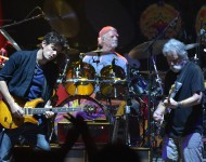 John Mayer, Bill Kreutzman and Bob Weir of Dead & Company In Concert at Madison Square Garden on October 31, 2015 in New York City