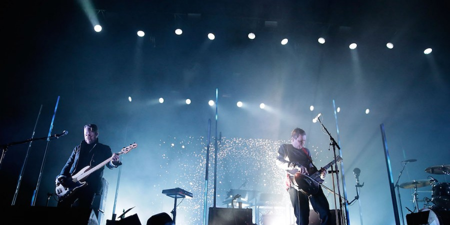 Georg Holm and Jonsi Birgisson of Sigur Ros perform during Splendour in the Grass 2016 on July 24, 2016