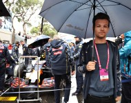 Louis Tomlinson, singer, on the grid during the Monaco Formula One Grand Prix at Circuit de Monaco on May 29, 2016 in Monte-Carlo, Monaco