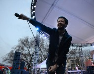Michael Angelakos of Passion Pit performs at the Spotify House at SXSW 2015 on March 19, 2015 in Austin, Texas
