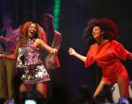 Beyonce and Solange perform onstage during day 2 of the 2014 Coachella Valley Music & Arts Festival