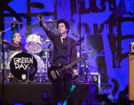 Billie Joe Armstrong and drummer Tre Cool of the band Green Day perform onstage at 106.7 KROQ Almost Acoustic Christmas 2016 - Night 2 at The Forum on December 11, 2016