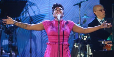 Fantasia Barrino performs onstage during the 56th annual GRAMMY Awards Pre-GRAMMY Gala and Salute to Industry Icons honoring Lucian Grainge at The Beverly Hilton on January 25, 2014 in Beverly Hills, California