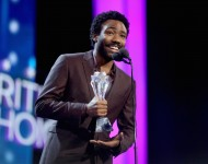 Donald Glover ( Childish Gambino ) accepts the Best Actor in a Comedy Series award for 'Atlanta' onstage during the The 22nd Annual Critics' Choice Awards at Barker Hangar on December 11, 2016 in Santa Monica, California