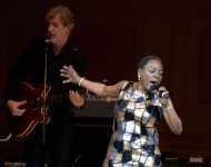 Sharon Jones performs onstage at the 26th Annual Tibet House U.S. benefit concert at Carnegie Hall on February 22, 2016 in New York City